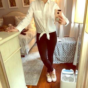 Madewell tie front white shirt. Never worn.